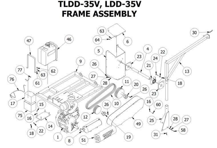 TLDD-35V FRAME ASSEMBLY
